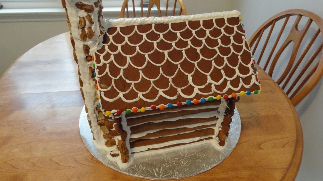 Gingerbread log house full instructions template picture maxwellsz